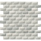 Carrara White 1x2 3D Polished Mosaic