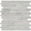 Carrara White RSP Interlocking Pattern Polished Mosaic