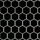 Domino Black 2X2 Hexagon Glossy Porcelain Tile