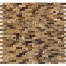 Spanish Emperador Dark 12x12 Split Face Mosaic
