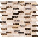 Emperador Blend Splitface Peel And Stick Wall Tile