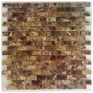 Emperador Dark Interlocking Mini Brick 12x12