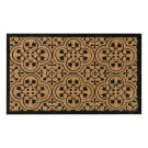 Encaustic Black Natural Coir 22X36 Door Mat