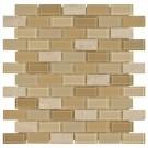 Gela 1x2 Brick Pattern Blend Mosaic
