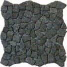 Flat Charcoal Pebbles 16X16 Tumbled