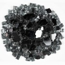 Galaxy Black 1.27 CM 20 LBS Crystal Reflective Fireglass
