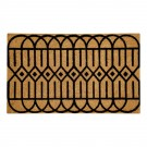 Geometric Black Natural Coir 18X30 Door Mat