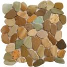 Golden Bali Mix 12X12 Interlocking Indonesia Pebble Tile