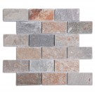 Golden Harvest 2X4 Quartzite Mosaic