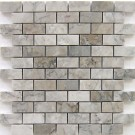 Gray Cloud 1x2 Polished Marble Mosaic