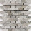 Gray Cloud 1x2 Polished Marble Mosaic