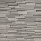 Gray Oak 6X24 3D Honed Ledger Panel