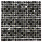 China Black 5/8x5/8 Steel Blend Mosaic