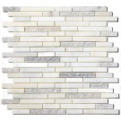 Arabescato Carrara Duo Interlocking 12x12 Mosaic