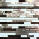 Stainless Steel & Glass Mix 12x12 Interlocking Mosaic