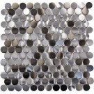 "Stainless Steel Penny 1"" Blend Mosaic"