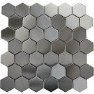 "Stainless Steel 2"" Hexagon Mosaic"