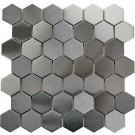 "Stainless Steel 2"" Hexagon Mosaic"