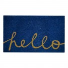 Hello Blue Natural Coir 22X36 Door Mat