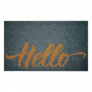 Hello Gray Natural Coir 22X36 Door Mat
