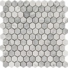 Carrara White 1x1Hexagon Polished Mosaic