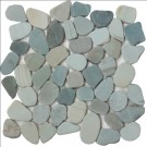 Jade Green Natural 12X12 Interlocking Indonesia Pebble Tile