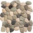 Timor White Rounded 12X12 Interlocking Indonesia Pebble Tile