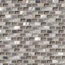 Keshi Blend Mini Brick Pattern Metal Mosaic