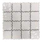 Magnolia 2X2 Matte White Square Ceramic Mosaic