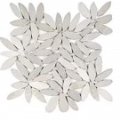 Magnolia Flower 12X12 Interlocking Natural Flat Pebble Tile