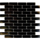 Metal Black Brick Matte 12X12 Metal
