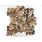 Black Pearl 12X12 Interlocking Polished Pebble Tile