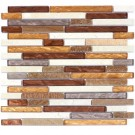 Montevideo Glass Mix 12x12 Random Strip Mosaic