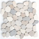 Multicolor Natural 12X12 Interlocking Indonesia Pebble Tile