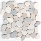 Multicolor Natural 12X12 Interlocking Indonesia Pebble Tile