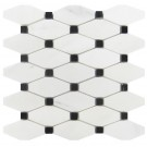 Octave Carrara White With Black Dot Elongated Polished Mosaic