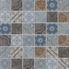 Metallica Interlocking Pattern Glass Metal Mosaic