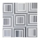 Piazza Zebra Thassos 12X12 Polished Waterjet Mosaic