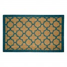 Quatrefoil Blue Natural Coir 18X30 Door Mat