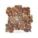 Redwood 12X12 Interlocking Flat Pebble Tile