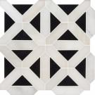 Retro Fretwork 12x12 Polished Marble Wall Tile