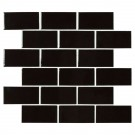 Retro Nero 2X4 Glossy Porcelain Subway Tile