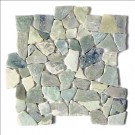 Sea Grass 12X12 Interlocking Designer Flat Collection Pebble Tile