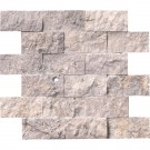 Silver Travertine 2x4 Split Face Mosaic