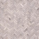 Silver Travertine Herringbone Pattern Honed Tile