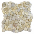Silver Wheat 12x12 Polished Pebble