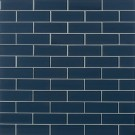 Midnight 2X6 Glossy Glass Subway Tile