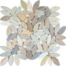Spring Flower 12X12 Interlocking Designer Flat Collection Pebble Tile