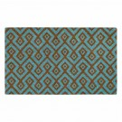 Square Aqua Natural Coir 18X30 Door Mat