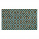 Square Aqua Natural Coir 22X36 Door Mat